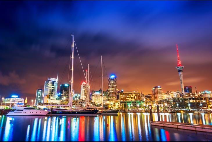 Havnen i Auckland, New Zealand