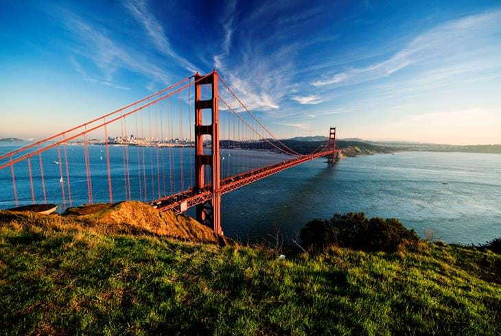 Golden Gate Bridge, San Francisco - Bilferie i California og Las Vegas