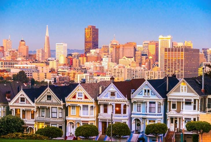 "De kjente husene ""Painted ladies"" i San Francisco - Bilferie i California og Hawaii"