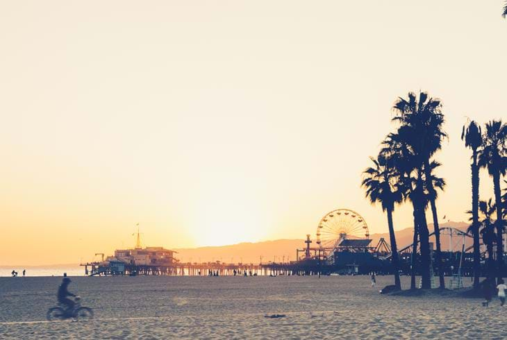 Santa Monica, Los Angeles - Bilferie i California og Hawaii