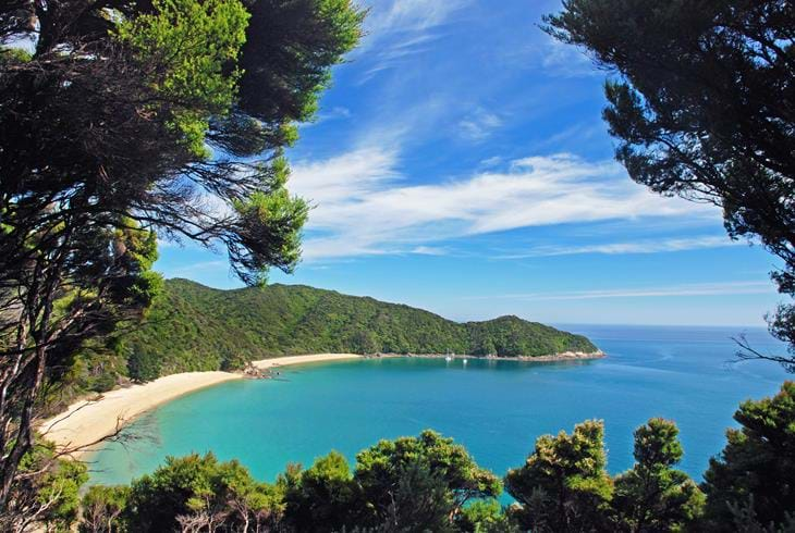 Abel Tasman National Park - Sørøya på New Zealand i bobil