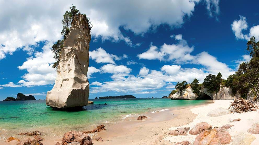Coromandel Cathedral Cove i New Zealand