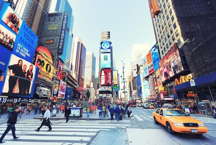 Times Square i New York - Reise til New York og Hawaii