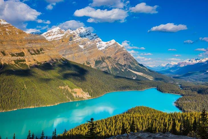 Peyto Lake i Banff National Park - Bilferie i Canada