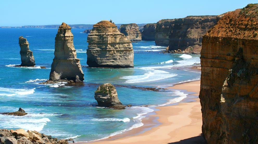 'Twelve Apostles' langs Great Ocean Road i Australia