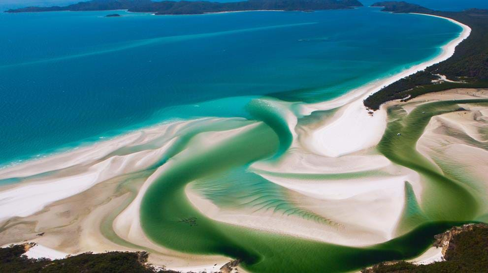 Berømte Whitehaven Beach i The Whitsundays er et spektakulært syn - Reiser til Queensland