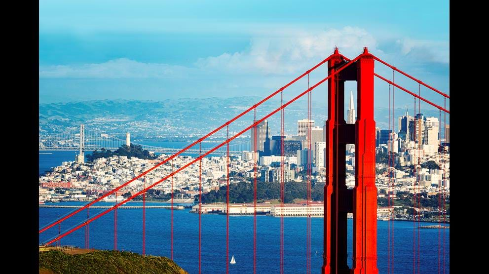 Golden Gate Bridge i San Francisco - Bobil i USA