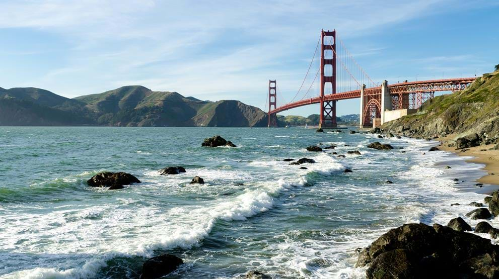 Golden Gate Bridge i San Francisco, USA - Reiser til Nord-Amerika