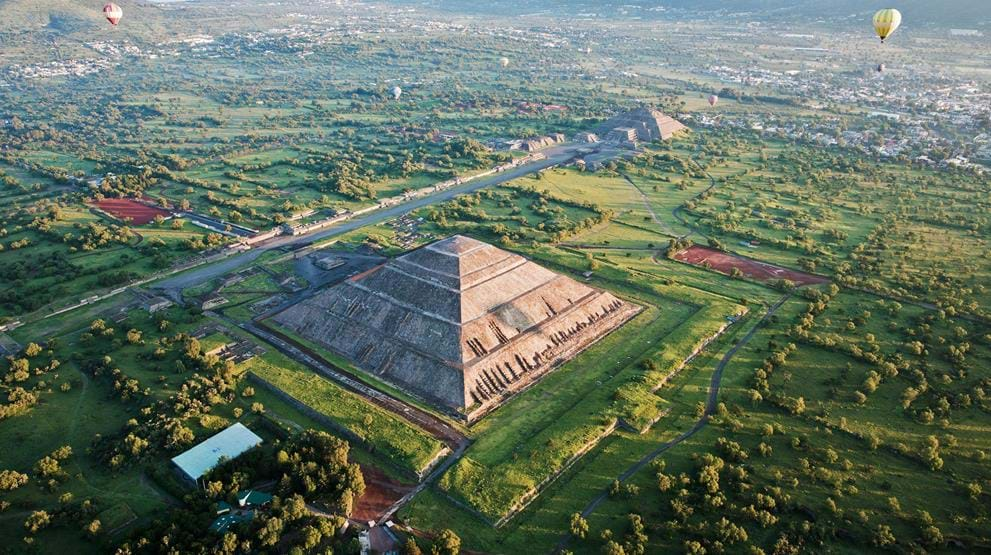 The Sun's Pyrimad, Teotihuacan - Reiser til Mexico