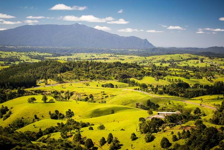 Utsikt over frodige Atherton Tablelands