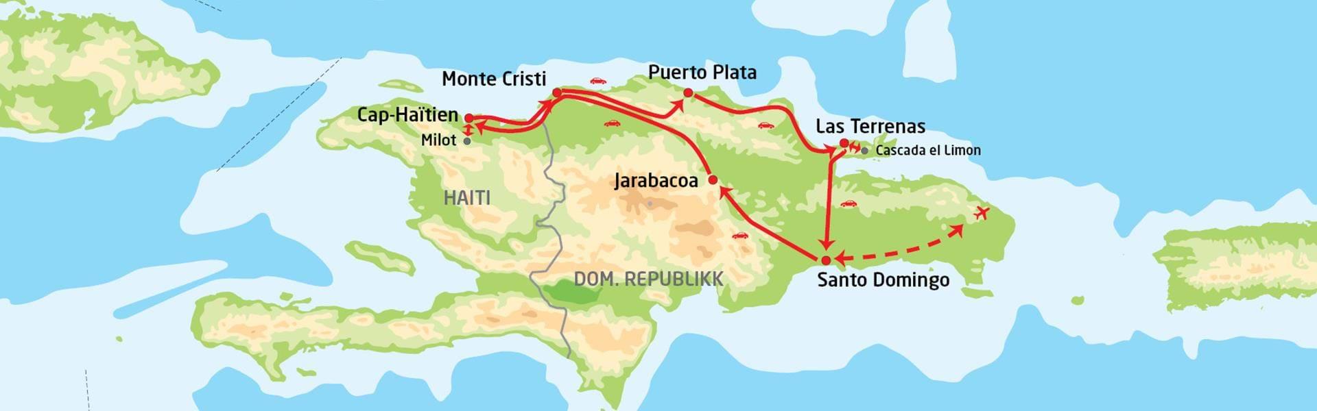 kart den dominikanske republikk Utforsk Den dominikanske republikk & Haiti | med BENNS kart den dominikanske republikk