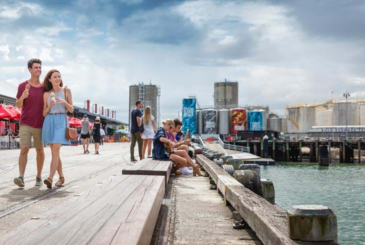 Wynyard Quarter i Auckland. Foto: Miles Holden (Tourism New Zealand)